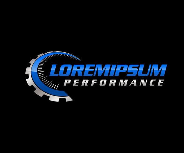 Logo de performance automatique vecteur