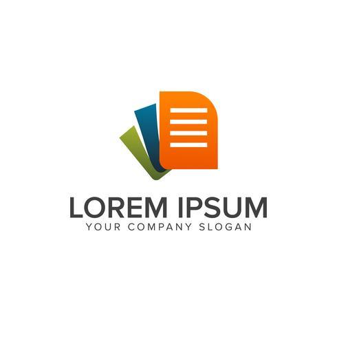 modèle de concept de document logo design vecteur