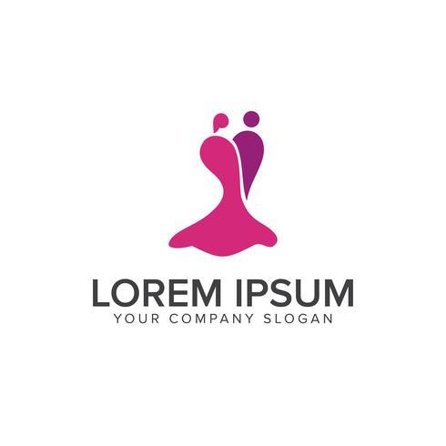 Modèle de concept de conception de logo de personnes de rencontres vecteur