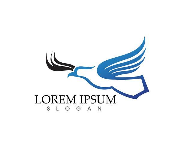 Icônes vectorielles Falcon Eagle Bird Logo Template vecteur