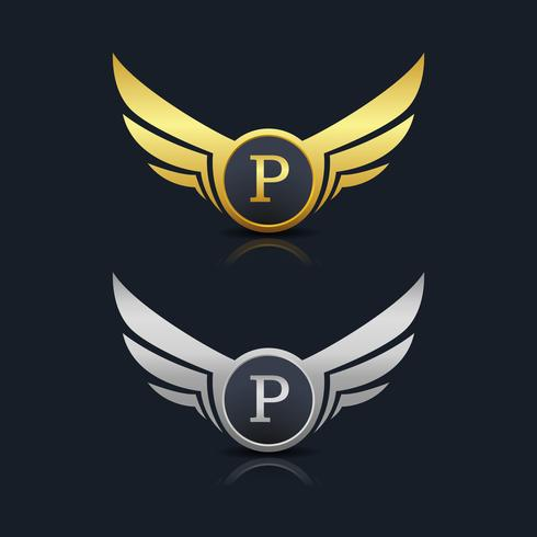 Logo de la lettre P vecteur