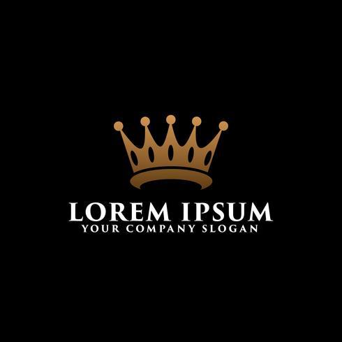 modèle de concept de design couronne luxe logo vecteur
