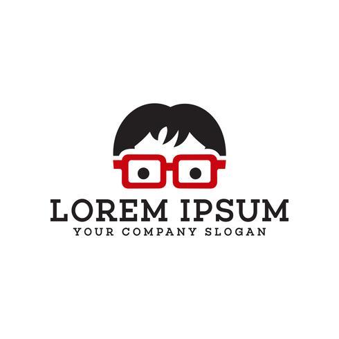 modèle de concept de design logo personnes geek vecteur