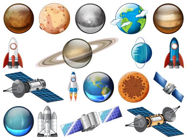 Ensemble de systèmes solaires vecteur