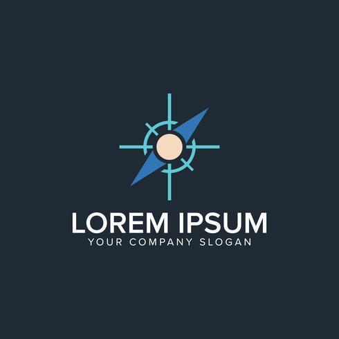 modèle de concept de boussole logo design vecteur