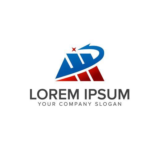 lettre M. modèle de concept de logo immobilier immobilier vecteur