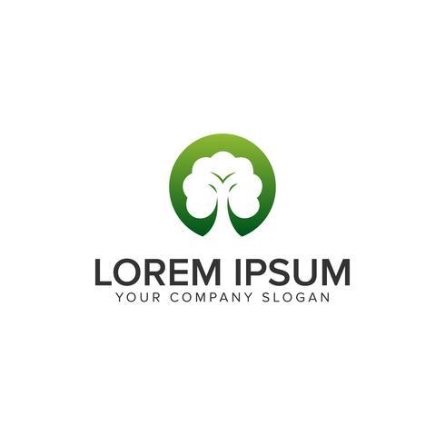 modèle de concept de design arbre vert logo vecteur
