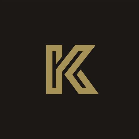 Modèle de concept de design lettre luxe K Logo vecteur