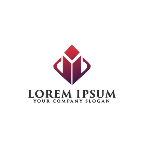 modèle de concept de conception de logo abstrait immobilier vecteur
