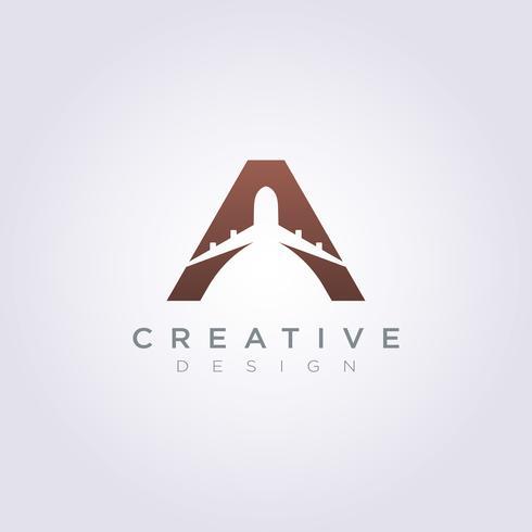 Lettre un avion Vector Illustration Design Clipart Logo Logo Template