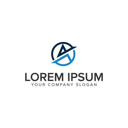 lettre moderne Un modèle de concept de design de logo vecteur