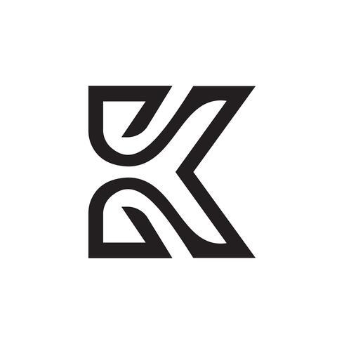 modèle de concept de lettre k logo design vecteur