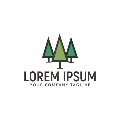 Modèle de concept de conception minimaliste arbre Logo vecteur
