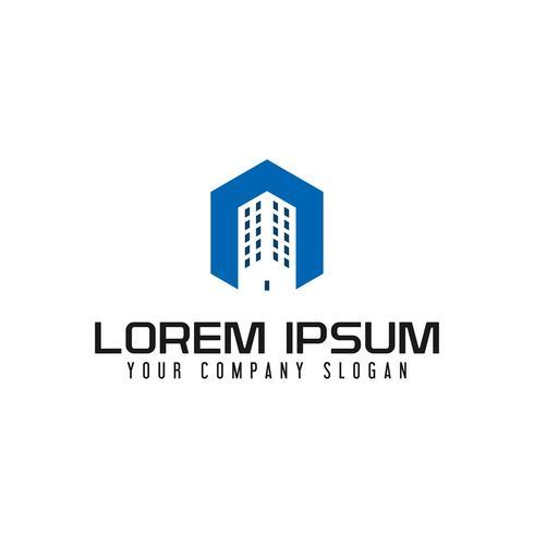 bâtiment modèle de concept de conception de logo. Logo de construction architecturale. modèle de conception concept modèle de conception concept vecteur