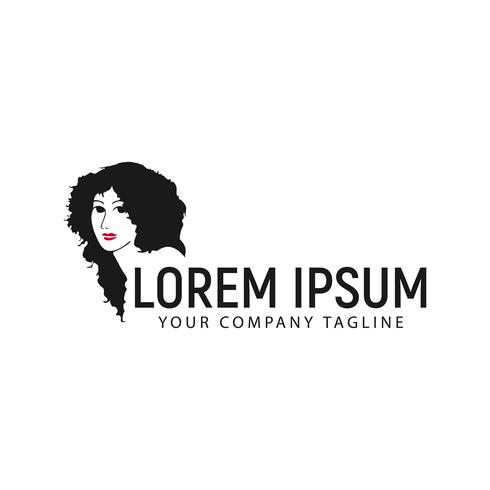 modèle de concept de beauté femme logo design vecteur