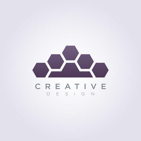 Feuille de fourrure Logo Template Design Vector Symbole Icône pour la société