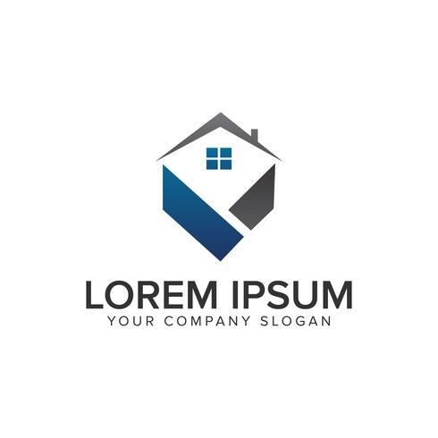 Logo immobilier. Mortgage House Immobilier concept de design de logo vecteur