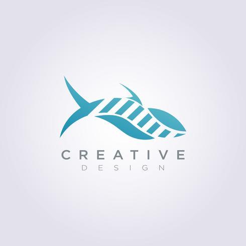 Whale Sea Animal Illustration Conception Logo Symbole Logo vecteur