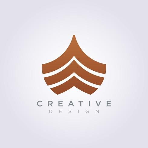 Avant de l'icône de modèle de navire Design Company Logo Vector Icon