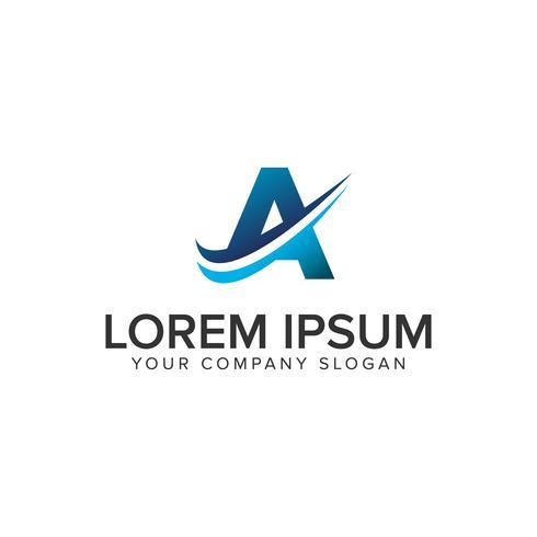 Cative Modern lettre Un modèle de concept de conception de logo. entièrement edita vecteur
