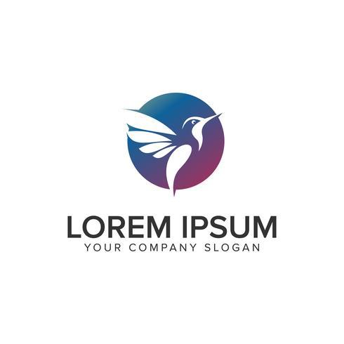 modèle de concept de design oiseau logo moderne. vecteur entièrement éditable