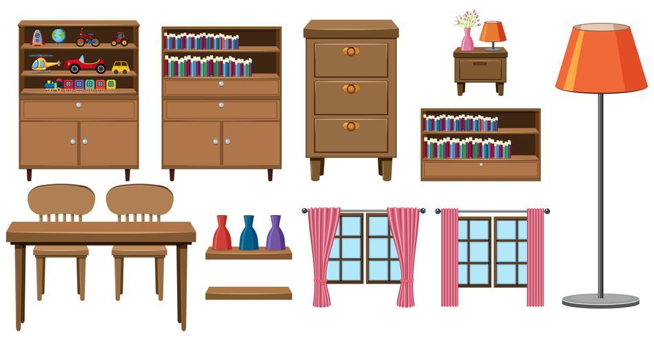 Ensemble de meubles de maison vecteur