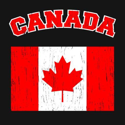 Tee-shirt vintage Canada vecteur