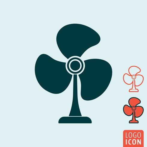 Icône de ventilateur isolé vecteur