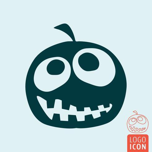 Icône de citrouille d'Halloween vecteur