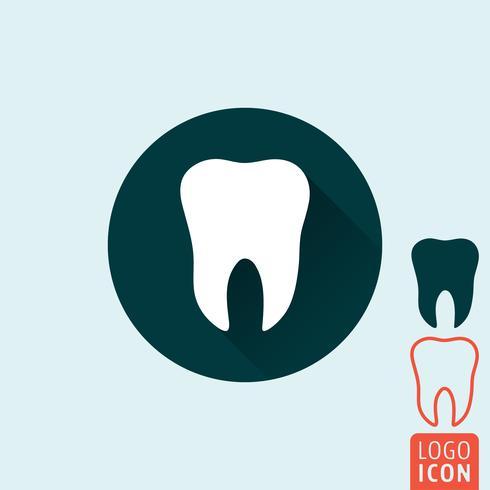 Icône de la dent isolée vecteur