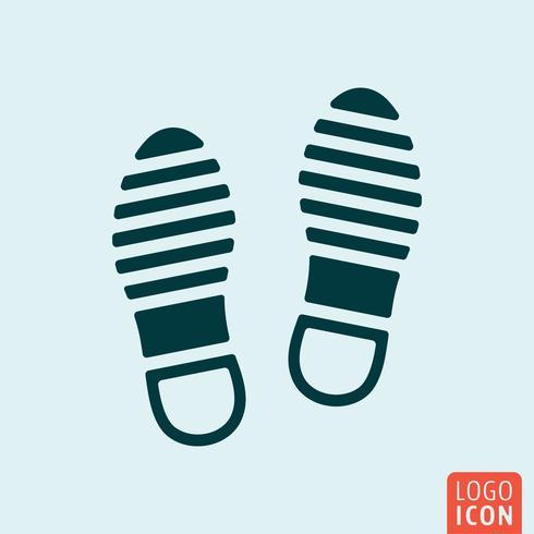Icône de chaussures isolé vecteur