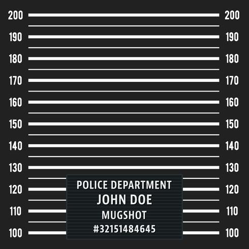 Police Mugshot fond vecteur