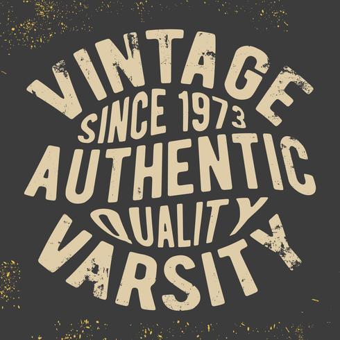 Timbre universitaire vintage vecteur