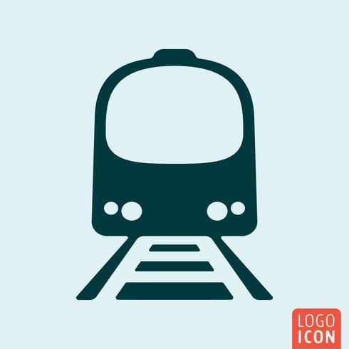Icône de train isolé vecteur