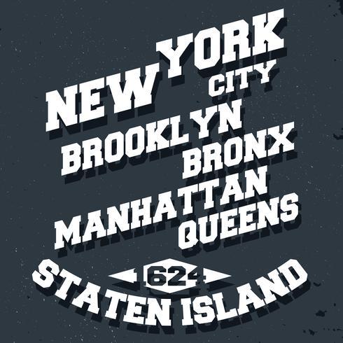 La ville de New York vecteur