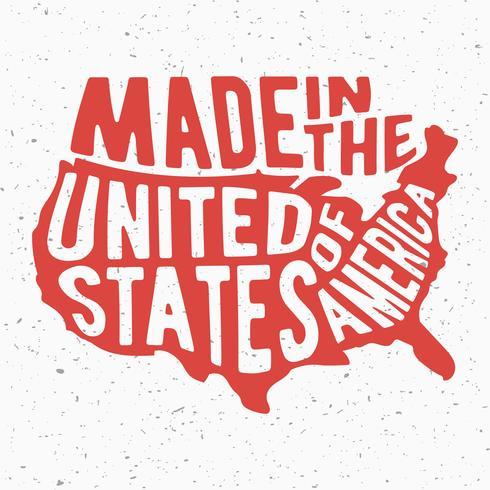 Timbre Vintage USA vecteur
