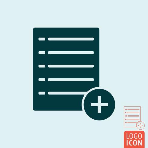 Ajouter une icône de liste vecteur