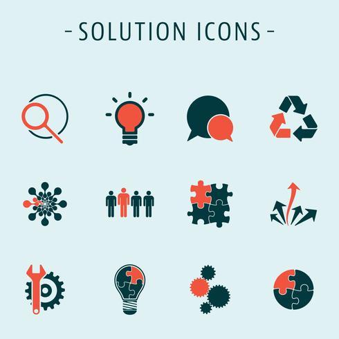 Définir des icônes de solution vecteur
