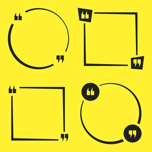 Citation ensemble carré vecteur
