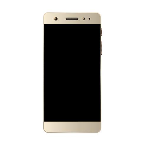 Smartphone blanc isolé vecteur