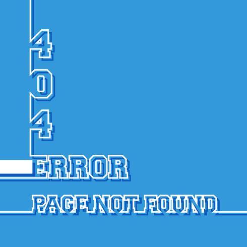 Page non trouvée vecteur