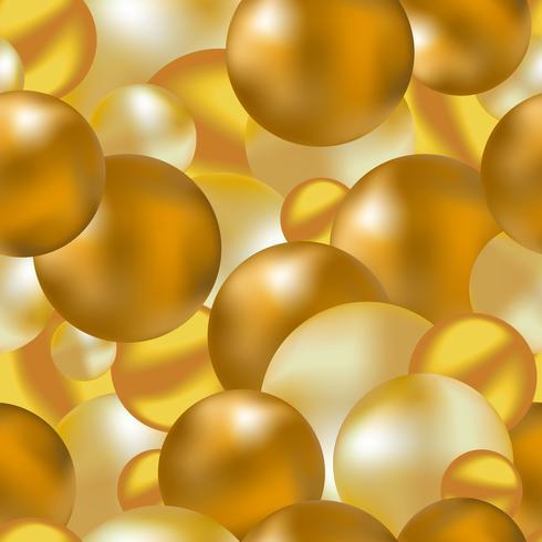 Fond transparent de boules d'or vecteur