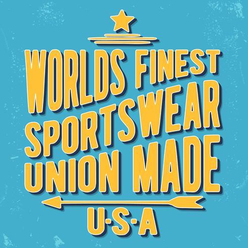 Timbre vintage Sportswear vecteur