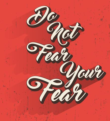 Ne craignez pas la citation vecteur