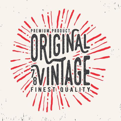 Timbre vintage original vecteur