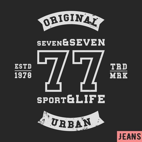 Timbre vintage 77 vecteur