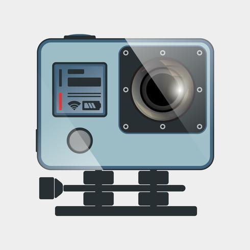 Icône de caméra d'action vecteur
