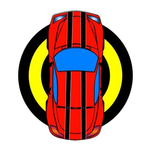 Voiture de sport rouge vecteur