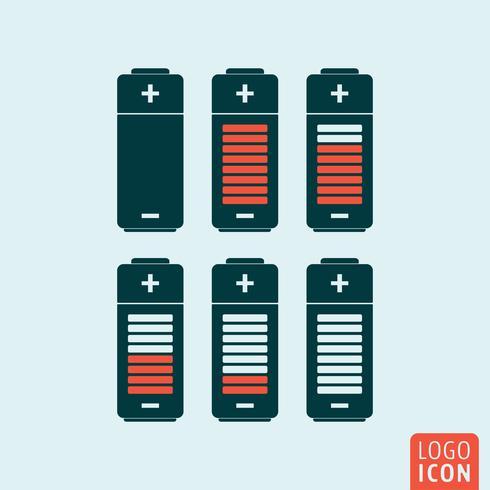 Icône de la batterie isolée vecteur