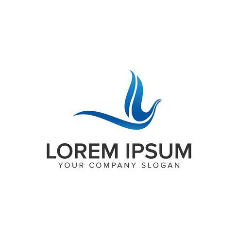 modèle de concept de design moderne oiseau abstrait logo. entièrement éditable vecteur